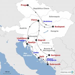 mapa-circuito-croacia-y-ciudades-imperiales